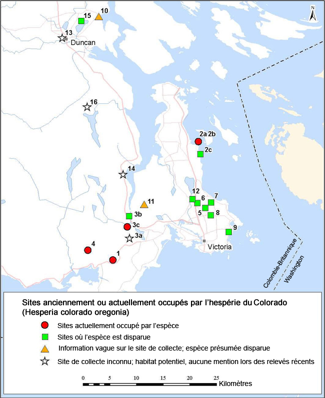 Distribution of the Caribou subpopulations in the Northern Mountain