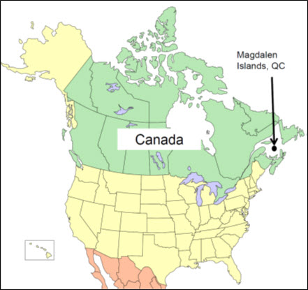 Map of North America (see long description below)
