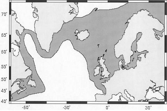 Figure 2.  Global distribution of Atlantic cod
