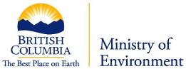 Logo of Ministry of Environment, British Columbia