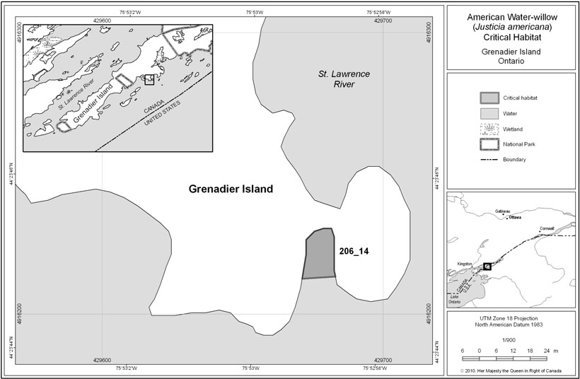 Grenadier Island critical habitat (see long description below).