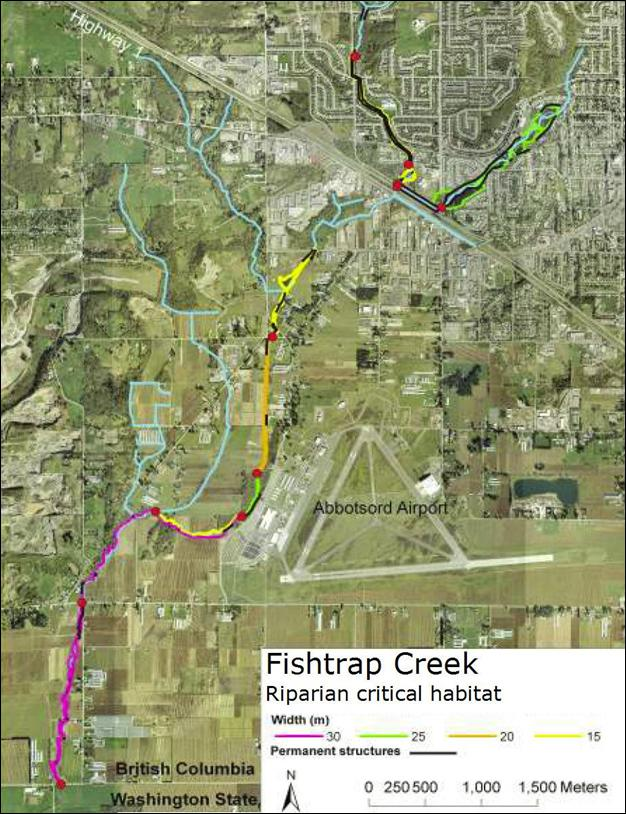 Fishtrap Creek: Riparian critical habitat