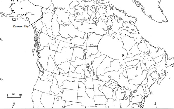 Figure 2: Location of reported occurrences of Bering Cisco in Alaska and Yukon Territory.