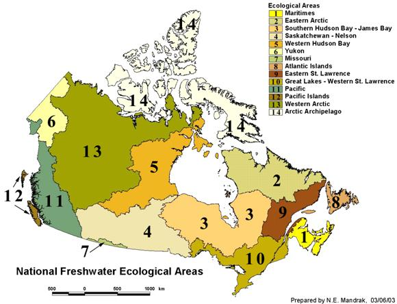 Aquatic ecozones of Canada