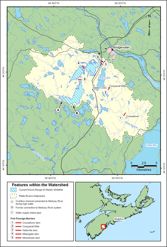 Figure 3. Petite Rivière watershed and Green Bay estuary.