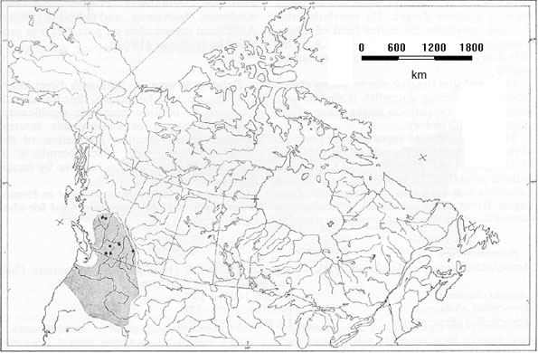Figure 2: North American Distribution of chiselmouth.