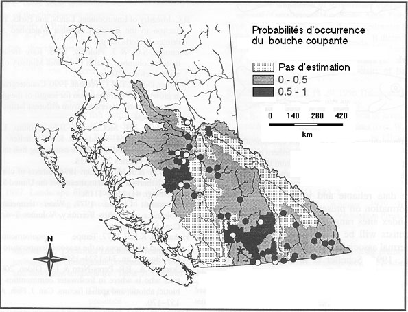 Figure 3 : Aire de répartition canadienne du bouche coupante.